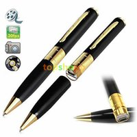 Wholesale HD Surveillance Spy Pen Hidden Camera Camcorder Mini DV DVR Video Recorder Detector Pinhole Support TF Card DHL no box