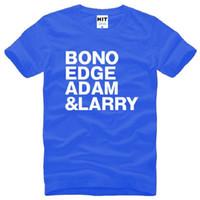 alternative rock band - Summer Style Rock Band U2 T Shirt BONO EDGE ADAM LARRY T Shirt Men Short Sleeve O Neck Cotton New Alternative Rock T Shirt Tops Tee