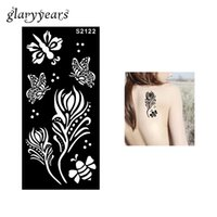 art bee - Piece Hollow Henna Tattoo Stencil Flower Butterfly Bee Body Art Paint for Women Henna Paste Drawing Tattoo Stencil Beach S2122