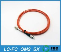 Wholesale LC FC Customizable fiber optic patch cord Meters Multimode OM2 MM Simplex SX PVC mm fiber optic cable fiber optic jumper