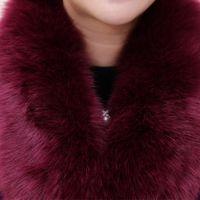 batik dress code - Elderly women s autumn Mao Fen code coat female short loose mother dress coat winter woolen coat