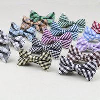Wholesale Children Fashion Formal Cotton Bow Tie Kid Classical Golden Striped Bowties Colorful Butterfly Dog Cat Pet Bowtie Tuxedo Ties