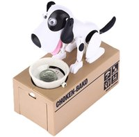 Wholesale Choken Bako Robotic Dog Bank Doggy Coin Bank Canine Money Box Coin Saving Piggy Money Bank White Black