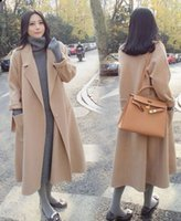 Wholesale New Arrival Hot Sale Fashion Noble Female Winter Korean High Quality Winter Woolen Long Paragraph Winter Khaki Noble Loose Casual Coat