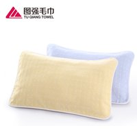 Wholesale Cotton gauze pillow newborn baby pillow towel fabric soft and breathable not hair loss Pillow Case WS02
