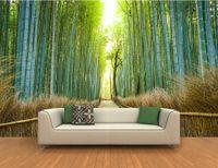 achat en gros de définition des côtés-3D, élevé, définition, sentiers, deux, c? Ur, exotique, bambou, mur, muraux, murale, 3D, papier peint, 3D, mur, papiers, tv, toile de fond