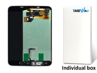 Wholesale Black white original For Samsung Galaxy S5 I9600 LCD Touch Screen Digitizer With Home Button Replacement