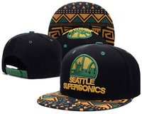 Wholesale Seattle Supersonics Adjustable Snap Back Hat Embroidered Cap