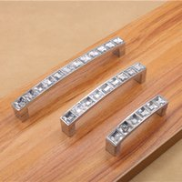 Wholesale 1Pc Modern Crystal U Square Door Knob Drawer Cabinet Furniture Bar Pull Handle For Bar Kids Bedroom Tools