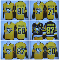 2017 Stadium Series Hockey Jerseys Pittsburgh Penguins # 81 Phil Kessel 87 Sidney Crosby 30 Matt Murray 58 Kris Letang 71 Evgeni Malkin