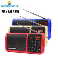 Wholesale Mini Fm Pocket Radio Rechargeable Tf Usb Digital AM FM SW Full Band Radio Portable Mp3 Speaker Usb Receivers Loudspeakers