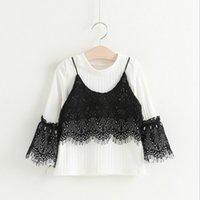 animal mosaics - Hug Me Girls Tops Kids Clothing New Spring Lace Mosaic Shirt Fashion Long Sleeve Cotton Top EC