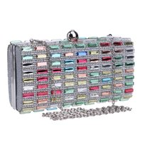 Wholesale Colorful rhinestones evening bags diamonds clutches evening bag case purse wedding day clutch evening bags for party bag