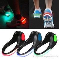 Wholesale LED Luminous Shoe Light Clip Light Up LED Shoe Clips Night Running Gear Shoe Lights Flashing LED Reflective Gear for Runners