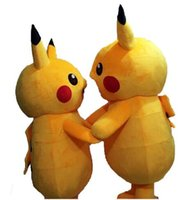 Wholesale hot sale Pikachu Mascot Costume high quality Fancy Dress Outfit two styles Pikachu Mascot Costumes