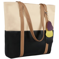 Wholesale Lychee Pattern Colorful Women Handbag Fashion Lady Panelled Shoulder Bags Shopping Bag Casual Totes Colors