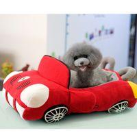 Wholesale Pet Boss Sport Luxury Car Shaped Cozy Pet Bed for Pets Red color