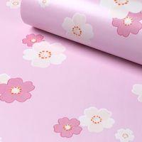 Wholesale Home Decor Sakura flower cm m Roll Boston pink sakura Self Adhesive Contact Paper Wallpaperfor Household Art