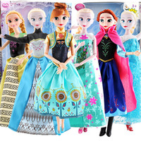 best baby animations - best selling fashion dolls Toys for Girl Barbie Dolls Animation film quot snow romance quot characters ELSA and ANNA dolls