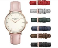 Wholesale ROSEFIELD Leather band Men Women Watches Luxury Watch Fashion Casual Watch Quartz Watch Female Clock Relojes Mujer Montre Femme