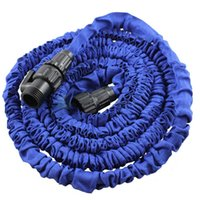 car washer 0 inch 0 inch Wholesale- EE support 25 50 75 100FT Blue Magic Flexible Expandable Anti-wear Water Hose With Valves (Without Nozzle Gun) XY01