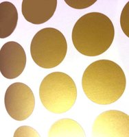 Wholesale Gold Confetti Dots Wall Decals for Baby Nursery Mixed sizes Peel and Stick Wall Stickers Home Décor