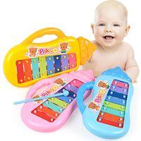 Wholesale Baby Happy Knocking Piano Musical Keyboards Toys for Kids Cartoon Bottle Shape Girls Boys Birthday Gift
