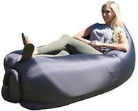 Wholesale 2016 In stock Air Sofa laybag Fast Inflatable hangout sleep bag Camping Bed Sofa Lounger Only Need Ten Seconds