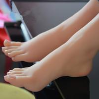 venda por atacado sex dolls-Mannequin Display Real pele sexo bonecas japonês masturbação completo silicone vida tamanho falsos pés modelo pé fetiche brinquedo brinquedos sexy amor boneca