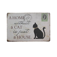 Bar Signs Posters On The Wall Shabby Chi Metal Infour Cat Vintage Home Decor Tin Signs Shabby Chic Plaque Metal Decorative Vintage Metal Sign Placas