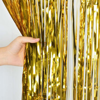 Wholesale Metallic Foil Fringe Door Curtains Party Christmas Wedding Photo Booth Props Marriage Gathering Backdrop Decor