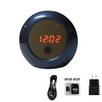 Wholesale P2P Wifi Hidden Clock Camera Mini Spy Camera Security Surveillance Camera Real time View Video Recorder By Phone App and PC Remote Control
