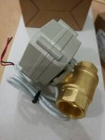 Wholesale way quot DN20 Brass Electric Ball Valve way DC12V wires BSP thread Motorized ball valve CR201 with actuator