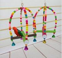Parrot fournitures jouets pour oiseaux échelle pivotante échelle d'oiseau rongeur jouets perroquet croix fin swing station stand bar échelle Livraison gratuite