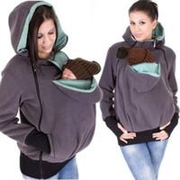 baby kangaroo holder - Baby Carriage New Baby Carrier Jacket Kangaroo Women Fleece Hoodie In Pregnant Zip Outwear Maternity Carrier Baby Holder Jacket