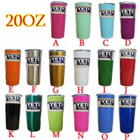 Wholesale Pink Yeti oz Cups Cooler YETI Rambler Tumbler Travel Vehicle Beer Mug Double Wall Bilayer Vacuum Insulated Stainless Steel