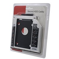 Wholesale Universal nd HDD Caddy mm SATA Optibay For mm quot SSD CD DVD Driver to HDD Case Enclosure Laptop CD ROM Adapter