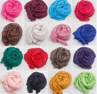 Wholesale 2014 women Pure color scarf cotton long fold scarf cape beach towel large shawl wraps F4190