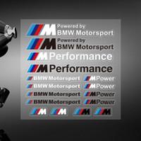 Wholesale 16x BMW M POWER SPORT PERFORMANCE TECH PACK DECAL STICKERS BADGE LOGO M3 M5 M6