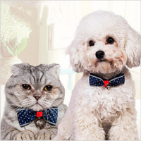 Wholesale Fashion Cute Pet Cat Dog Puppy Pet Bow Neck Tie Necktie Gift Acccessory Collar Adjustable DHL