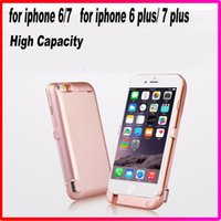 Wholesale 10000mah High Capacity External Battery Case For iPhone plus plus Powerbank Backup Power bank Case Backup Charger