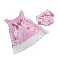 baby cover set - Baby Jumpsuit Summer Cotton Newborn Baby Girl Clothing baby Romper Lace Clothing Set Swing Top Diaper Cover