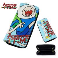 al por mayor bolsa de tiempo de aventura-19.5cm 3Styles Adventure Time Toy Finn y Jake BMO Beemo Carteras de juguete de juguete cremallera Larga Cartera Figura Regalos de Navidad puede elegir