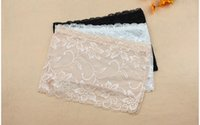 Wholesale New Lace Modal Strapless Bra Sexy Lingerie Wrap chest Black Color White Color Tube Underwear Nice gift Strapless