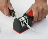 Wholesale Two Stages Kitchen Knife Sharpener Sharpening Stone Knives Tools by DHL