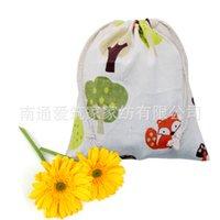 az cotton - Special Offer Sale Trousse Scolaire Stylo Pen Case Cotton Bags Cloth Tote Bag Fox Folding Drawstring cm Az