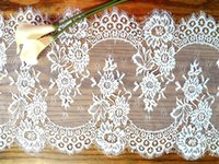 Wholesale Table Runners Chair Sashes Wedding Party Vintage Decoration Home Textiles Kitchen Dining Bar Table Decor WHITE BLACK Lace Fabric cm
