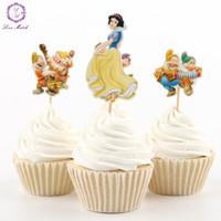 El partido al por mayor-NUEVO 24pcs suministra la decoración blanca de la torta de la decoración de las selecciones de los cupcakes de la magdalena de la princesa que suministra la fiesta de bienvenida al bebé