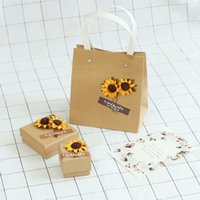 bags anklets - Silver in sunflower series rings necklaces anklets bracelet jewelry box set the kraft paper bag lady