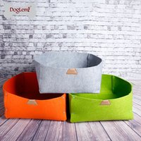 Wholesale 2 IN Nature Pet Bed Blanket Cat Bed Dog Cat Bedding Cute Handmade Cat Cave Kennel Beds colors